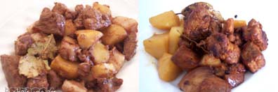 dry pork adobo with potatoes