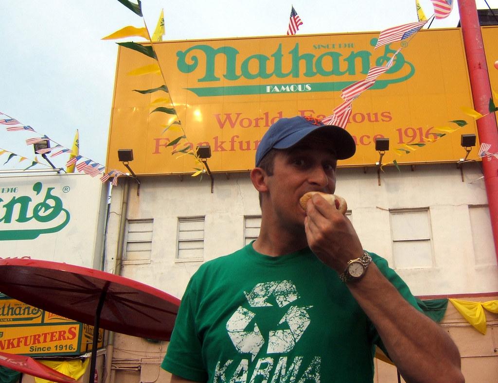 NATHANS - Me at Nathans