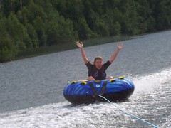 Me loving the tubing