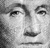 close-up cropped image of George Washington's face as it appears on U. S. paper money
