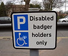 Disabled badger holders only
