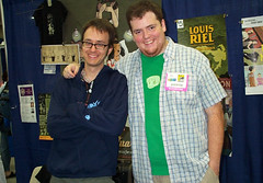 Peter Birkemoe (L) and myself at SDCC. Photo by Alvin Buenaventura.