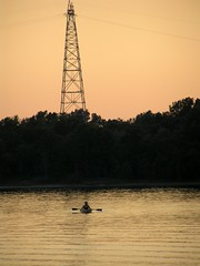 Kayak on Eufaula Lake in Oklahoma