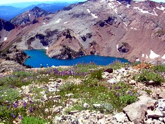 Lake from ridge to daniel