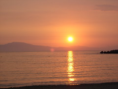 Sunset over Stoupa Bay