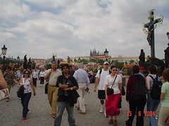 Kat Atas Charles Bridge, Prague, Czech Republic