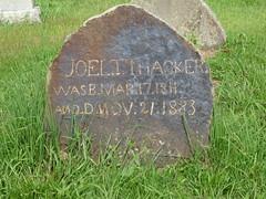Joel T. Thacker Monument ... Black Oak Cemetery, Dekalb County AL