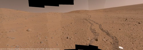 Spirit Sol 317-325 Calibrated Color Panorama