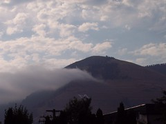 Fog over Mt. Sentinel