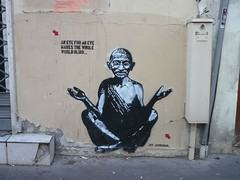 By Jef Aerosol, StreetArt, Paris, France photo by balavenise