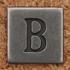 Pewter Uppercase Letter B