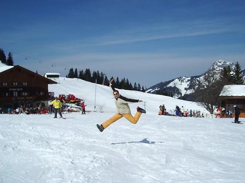 skiing jump