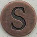 Copper Uppercase Letter S