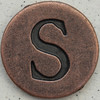 Copper Uppercase Letter S