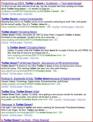 twitter down search results