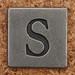 Pewter Uppercase Letter S