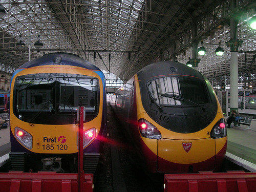 Piccadilly Station - trains ready for the off