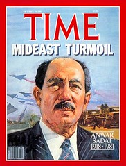 President Sadat on the time cover for the fifth time