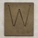 Brass Letter W
