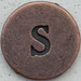 Copper Lowercase Letter s