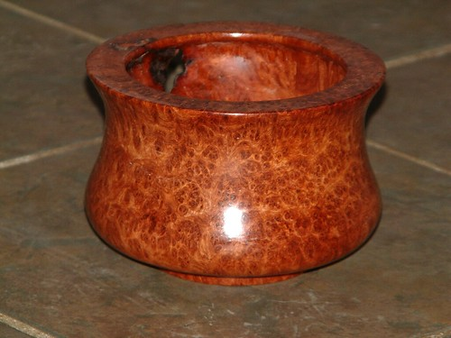 Christmas Burl Bowl front