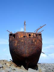 Rusty Plassey Ship Wreck photo by Eoghan Lynch