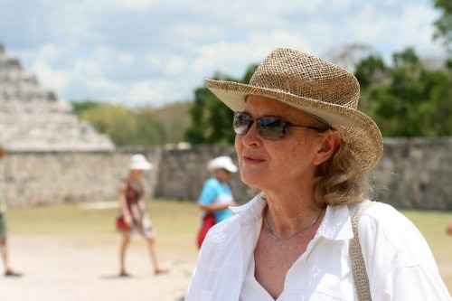 My mum, Chichen Itza, Mayan Riviera