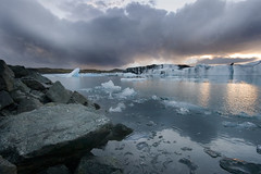 Glacial icebergs photo by ewahrlich