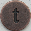 Copper Lowercase Letter t