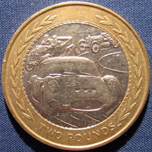 Squared Circle - Isle of Man £2 Coin - Ferrari 250GTO