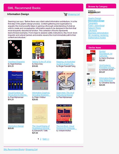 SML Recommend Books: Information Design / 2007-12-02 / SML Screenshots (by See-ming Lee 李思明 SML)