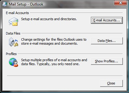 Mail Setup program