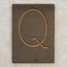 Brass Letter Q