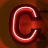 C glowing