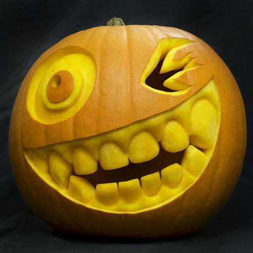 winking pumpkin