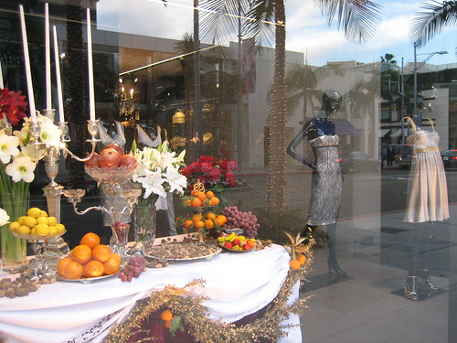 Window display at Rodeo Dr