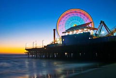 Santa Monica Sundown photo by RichGreenePhotography.com
