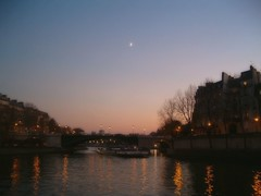 Tiny Moon over the Seine photo by Samyra Serin