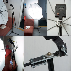 Modifying a microphone stand into a flash&umbrella stand photo by akeeh