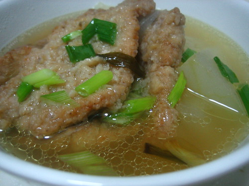 Double-boiled Winter Melon With Pork Chops