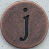 Copper Lowercase Letter j
