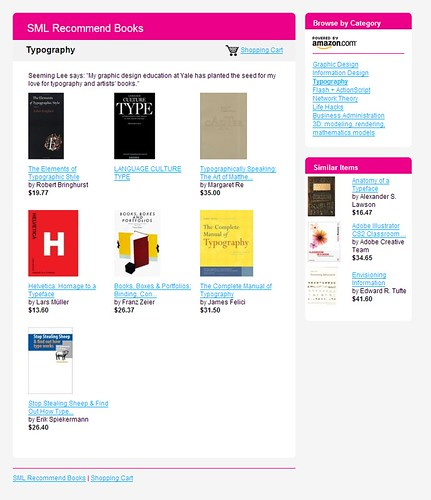 SML Recommend Books: Typography / 2007-12-02 / SML Screenshots (by See-ming Lee 李思明 SML)