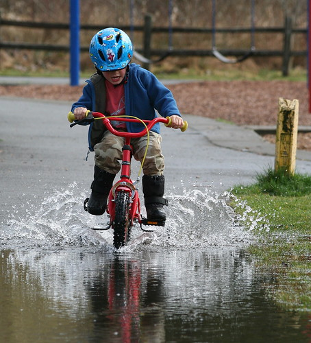 puddle surfing