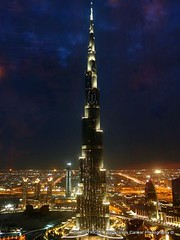 Burj Khalifa, Dubai at night - برج خليفة، دبي photo by Sir Francis Canker Photography ©