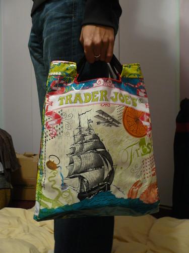 How To Make A Book Cover With A Trader Joe S Bag : A de e d g