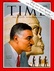 President Nasser on the cover of the time for the fourth time