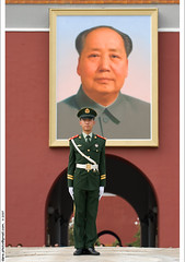 Mao's portrait at Tiananmen Square 天安門 photo by *dans