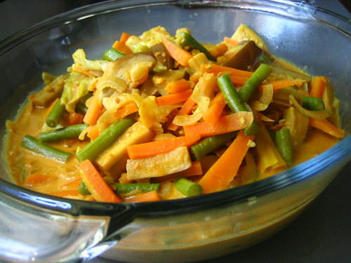 Mixed Veggies In Creamy Coconut Gravy