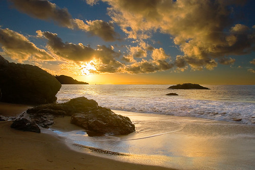 beach sunset. Baker Beach Sunset