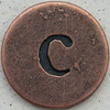 Copper Lowercase Letter c